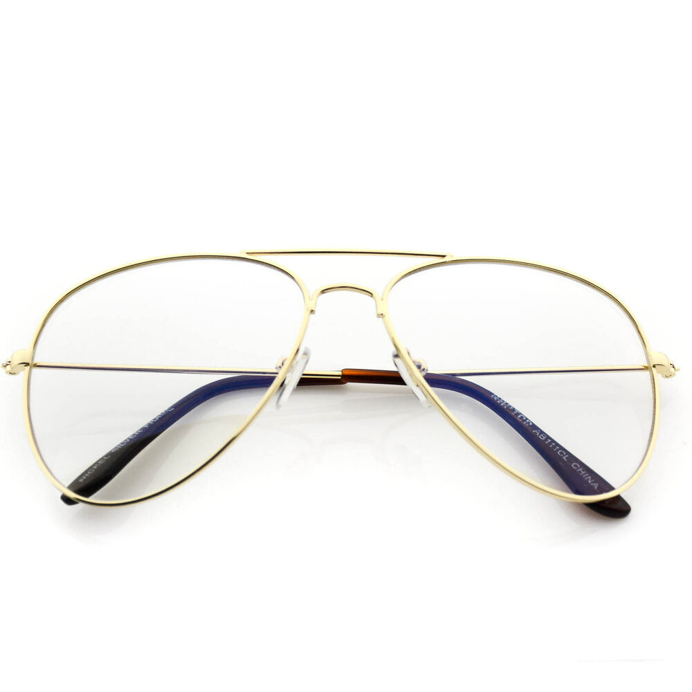 66f8f81e1891 Clear Aviator Glasses Ebay
