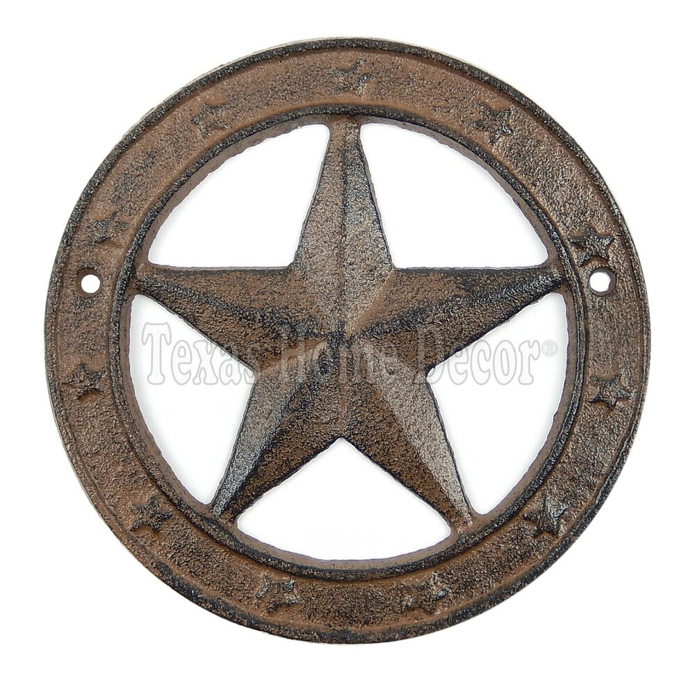 rustic texas star with ring cast iron western barn decor 6 texas star home design ideas pictures remodel and decor