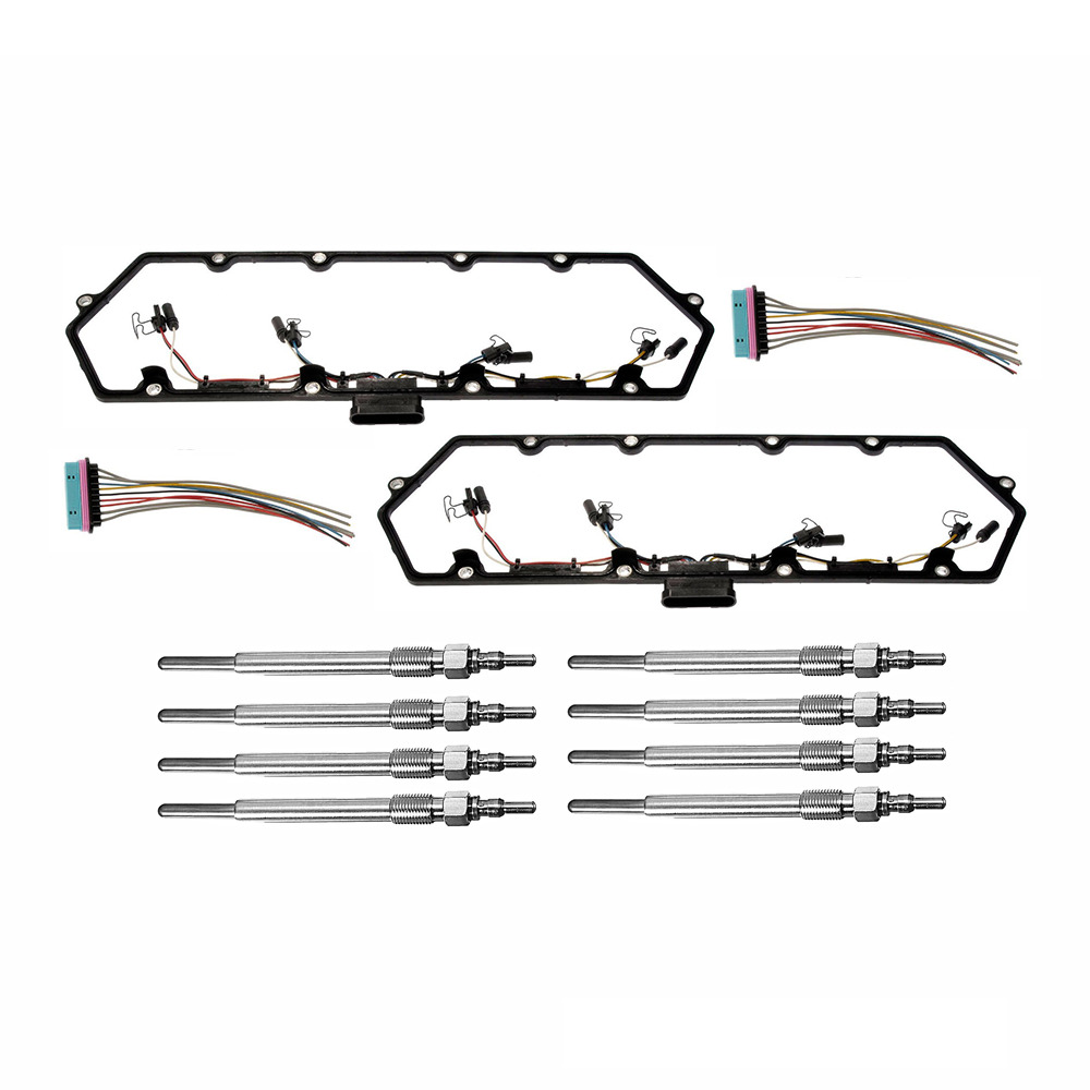 97 03 powerstroke 7 3l diesel glow kit gaskets harnesses 8 plugs pigtails ebay