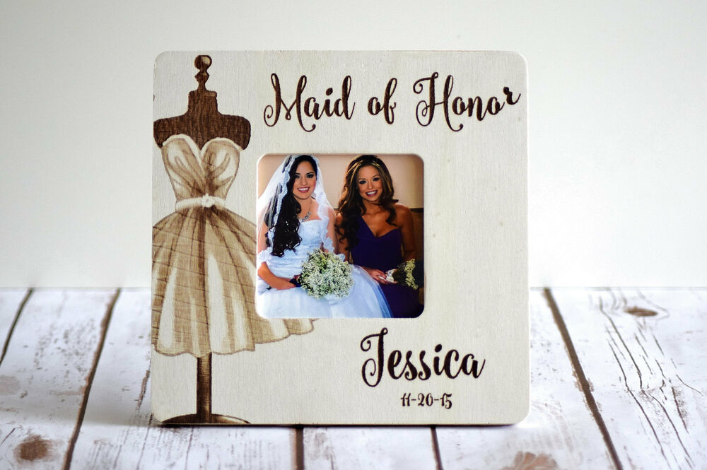 Wedding Gifts From Bridesmaids: Personalized Picture Frame- Maid Of Honor Gift- Bridesmaid