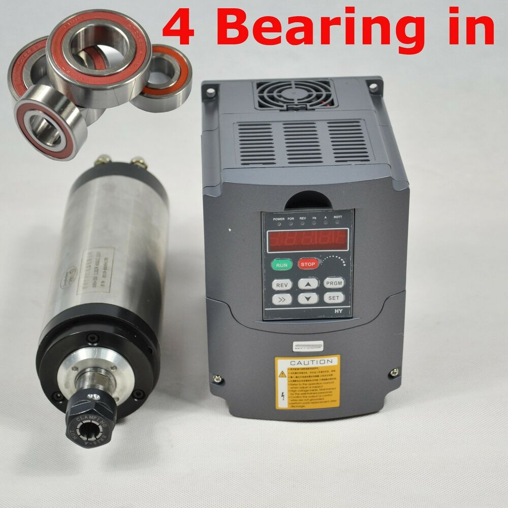 Four Bearing 65mm 1 5kw Er11 Water Cooled Spindle Motor