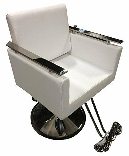New white contemporary hydraulic barber chair styling for Salon styling chairs wholesale