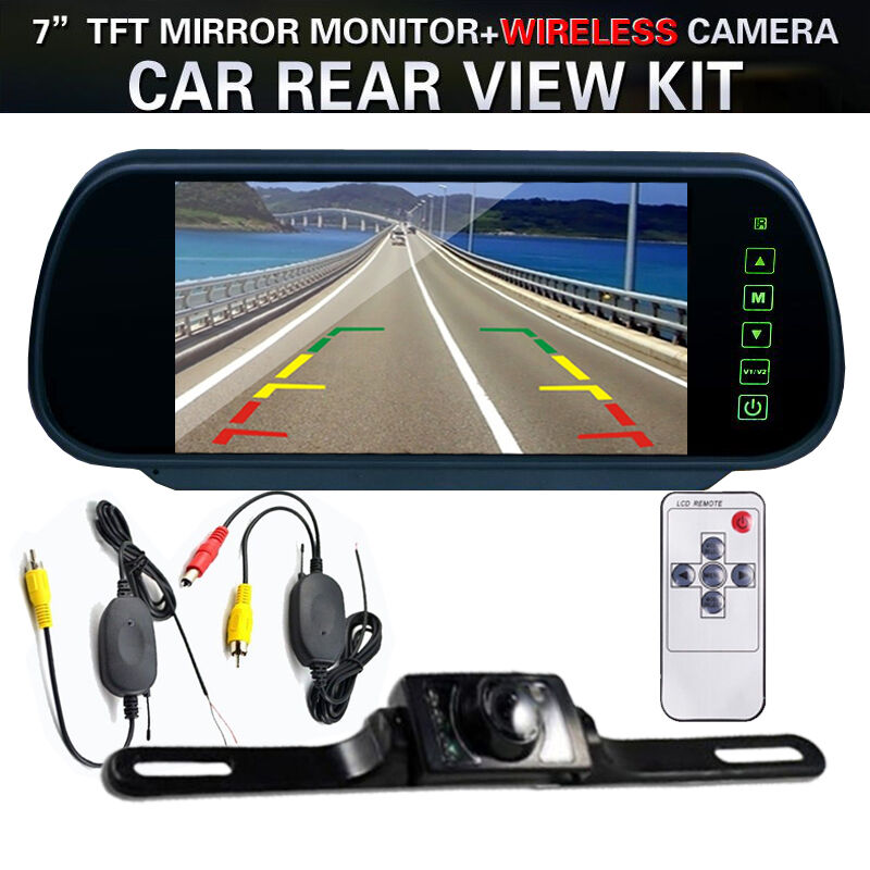 7 Quot Lcd Screen Car Rear View Backup Mirror Monitor Wireless