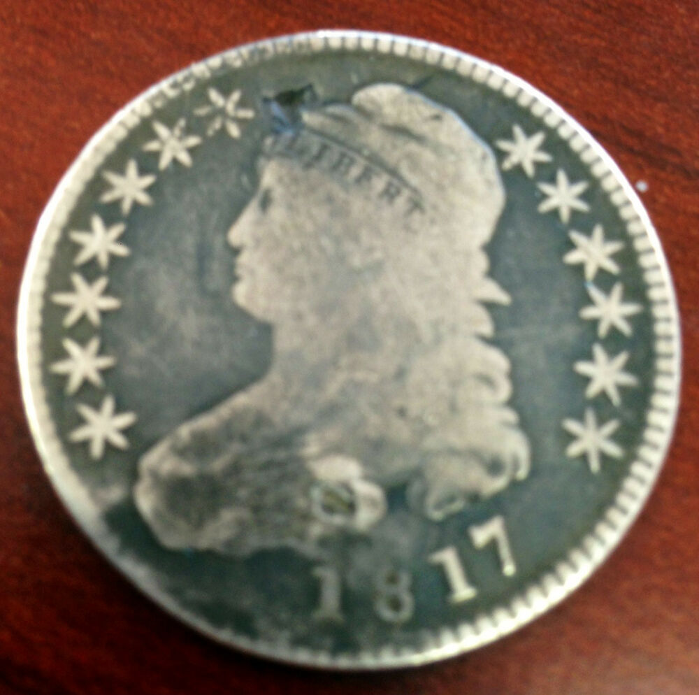 1817 Circulated Capped Bust Silver Half Dollar Nice Old ...