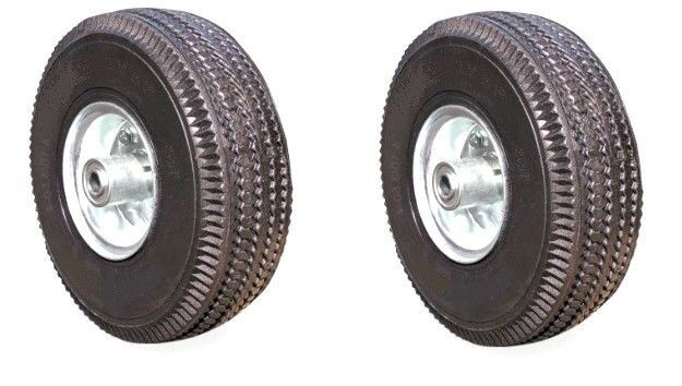 Three Wheeler Tires : Two new pneumatic hand truck air tires quot wheel
