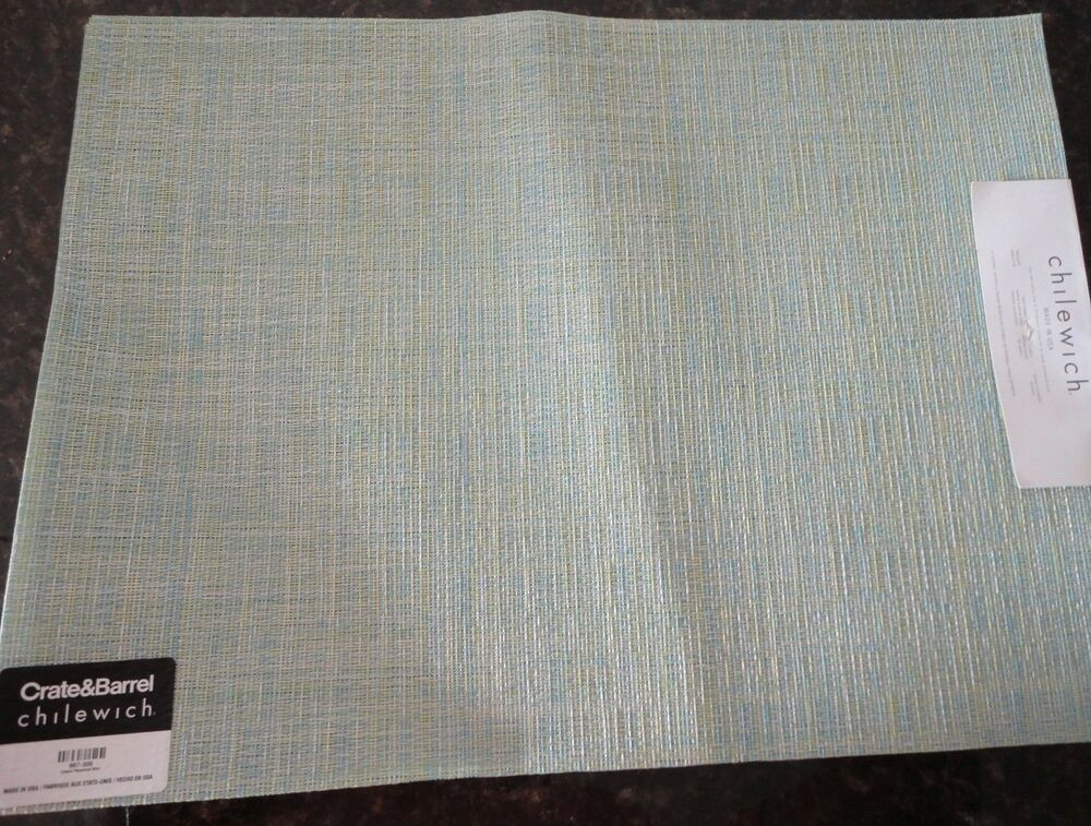 Chilewich Placemats Set Of 4 Mint Green Seafoam Crepe