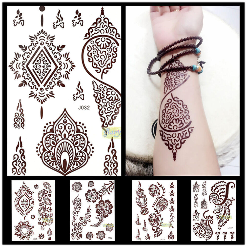 Latest 1x brown color henna ink lace temporary flash for White henna tattoo ink