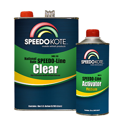 Acrylic Clear Coat Fast Dry 2K Urethane, SMR-130-M 4:1 Gallon Clearcoat Kit