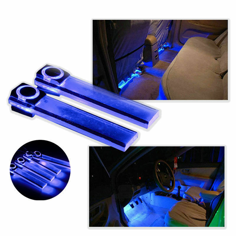4pcs led car interior xmas decorative blue light bar with cigarette lighter plug ebay. Black Bedroom Furniture Sets. Home Design Ideas