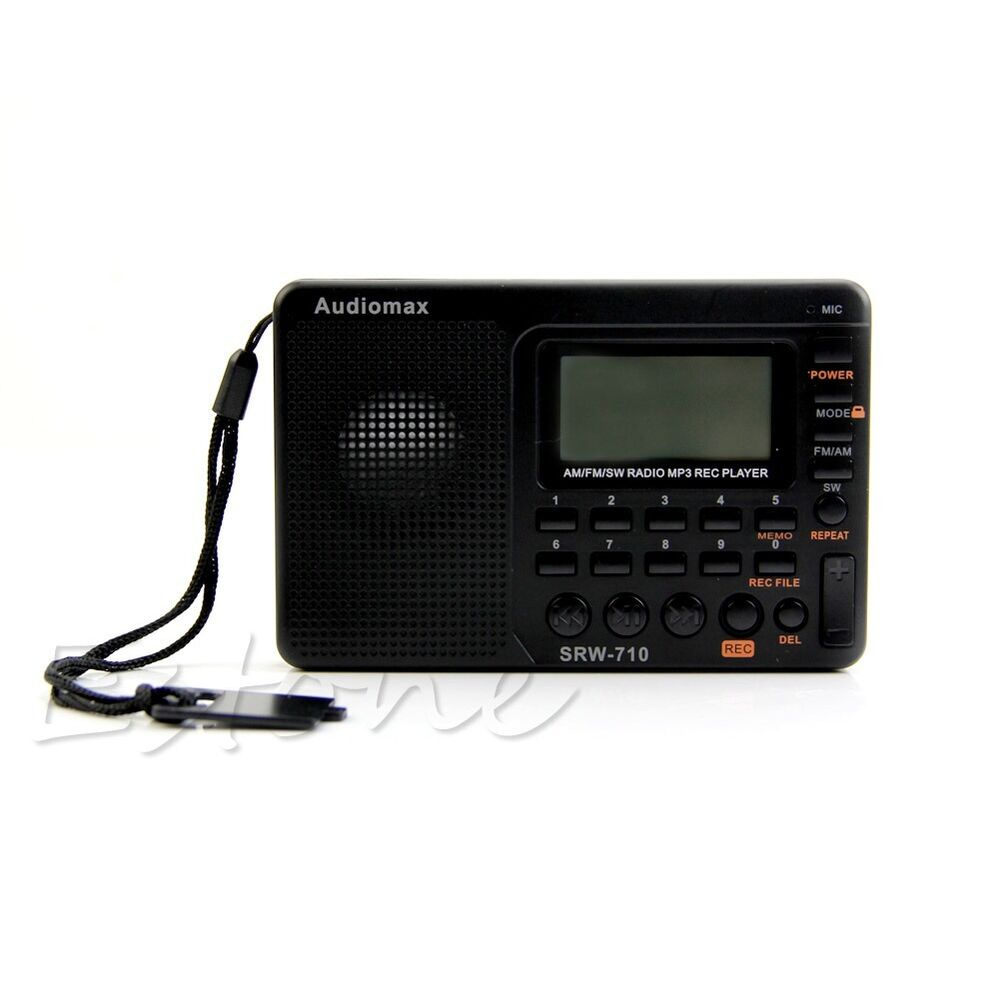 digital tuning lcd receiver tf mp3 rec player portable am. Black Bedroom Furniture Sets. Home Design Ideas