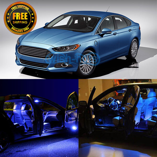 10x Durable 12V Blue LED Lights Interior Package For 2013
