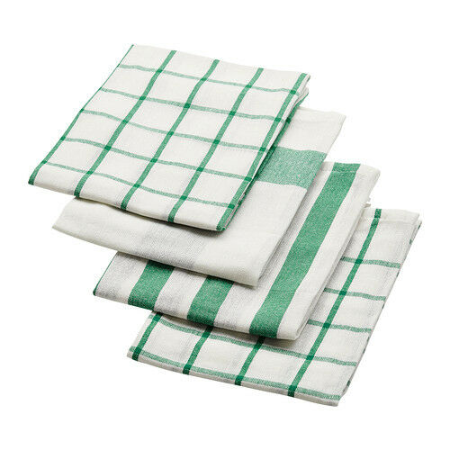 White Kitchen Towel: Ikea Elly Dish Towel 4 Pack White Green Kitchen Hand Towel