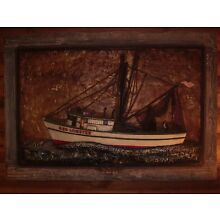 VINTAGE 1970s RED LOBSTER RAISED ART ONE OF A KIND 38