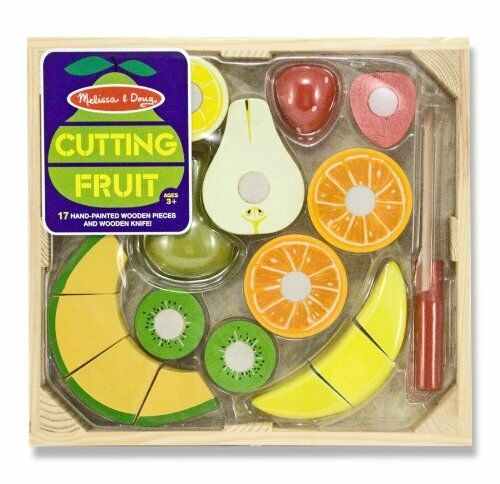 Melissa And Doug Cutting Fruit Play Food Set Wooden Kids Play Kitchen Set Ebay