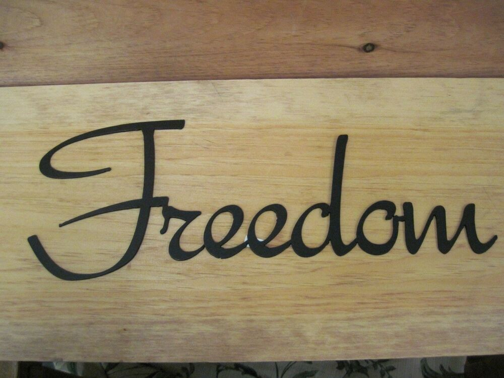 Freedom-Black Wrought Iron Wall Art Metal Home Decor