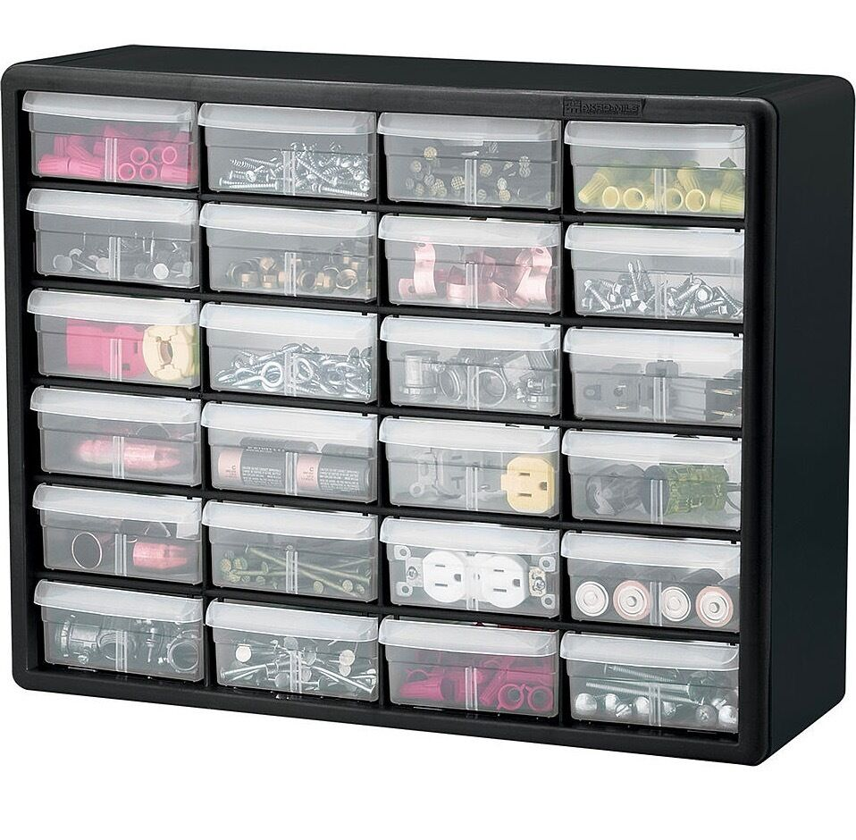 Storage organizer cabinet beads craft screws nails nuts - Organizing nuts and bolts ...