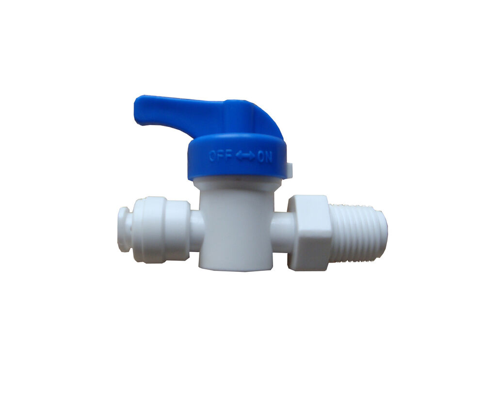 "1/4"" Tube X 1/4"" Thread Ball Valve Quick Connect Fitting"