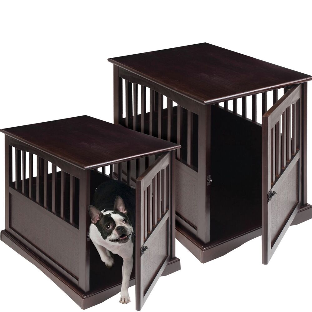Dog Crate Kennel Cage Bed Night Stand End Table Wood