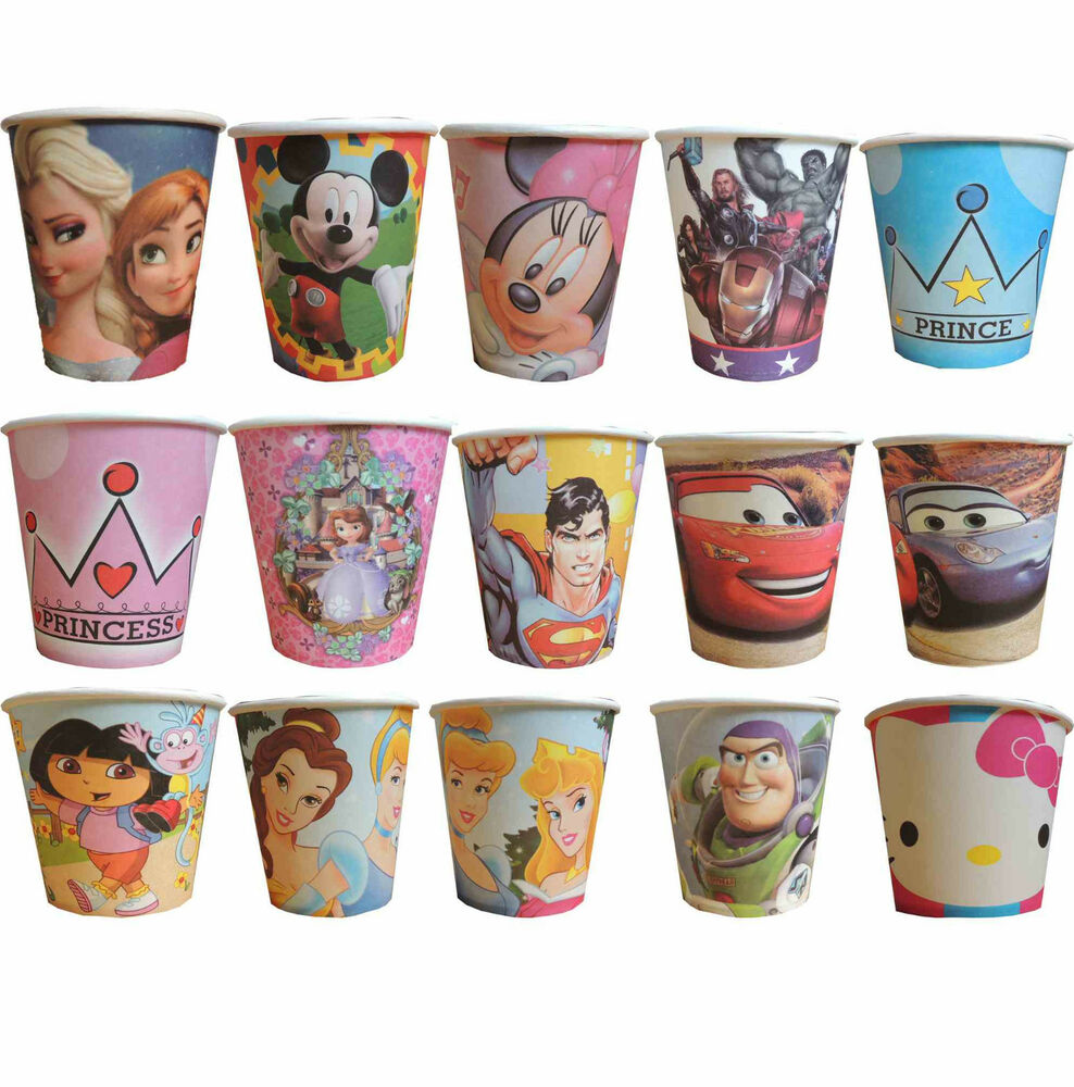 PK8 THEMED PARTY PAPER CUPS BIRTHDAY PARTY SUPPLIES TABLEWARE ...