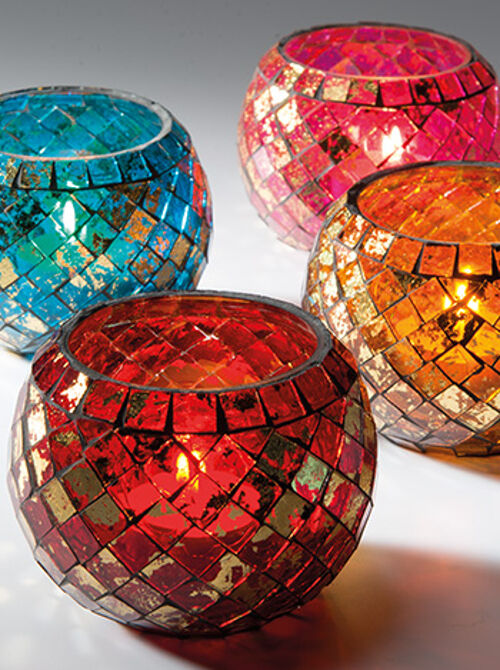 Moroccan Mosaic Glass Tealight Yankee Votive