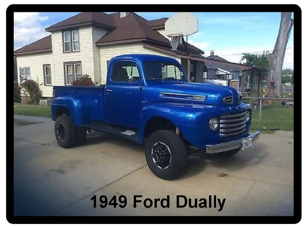 1949 ford dually truck refrigerator magnet ebay. Black Bedroom Furniture Sets. Home Design Ideas