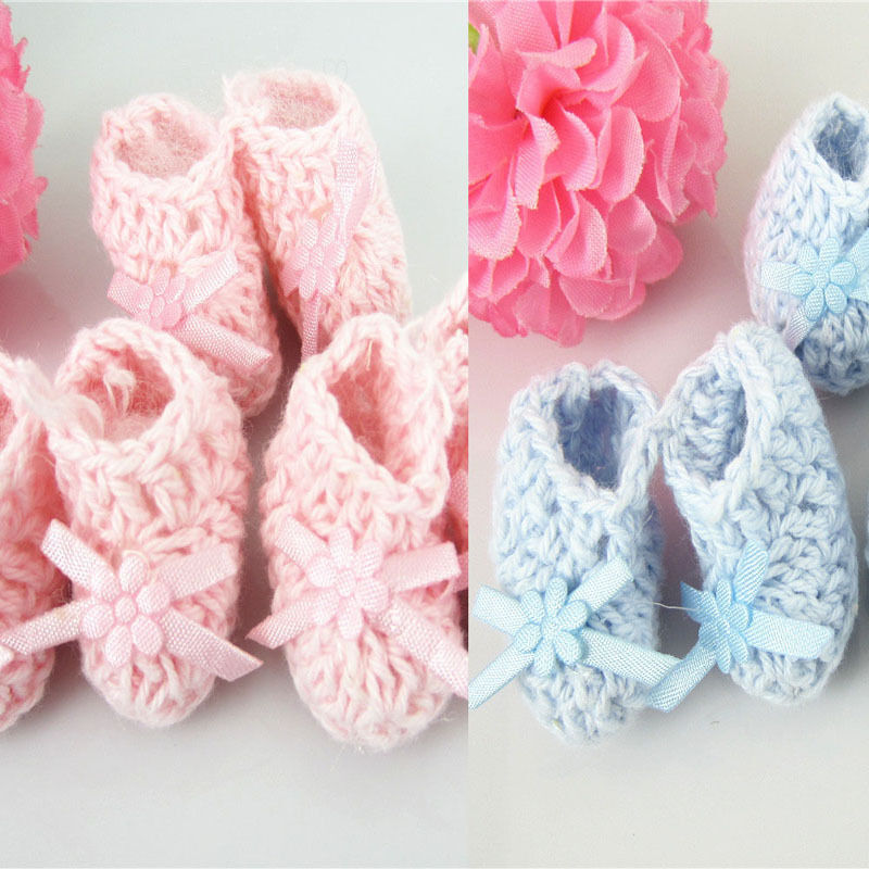 12 pairs miniature crochet booties baby shower favors baptism for
