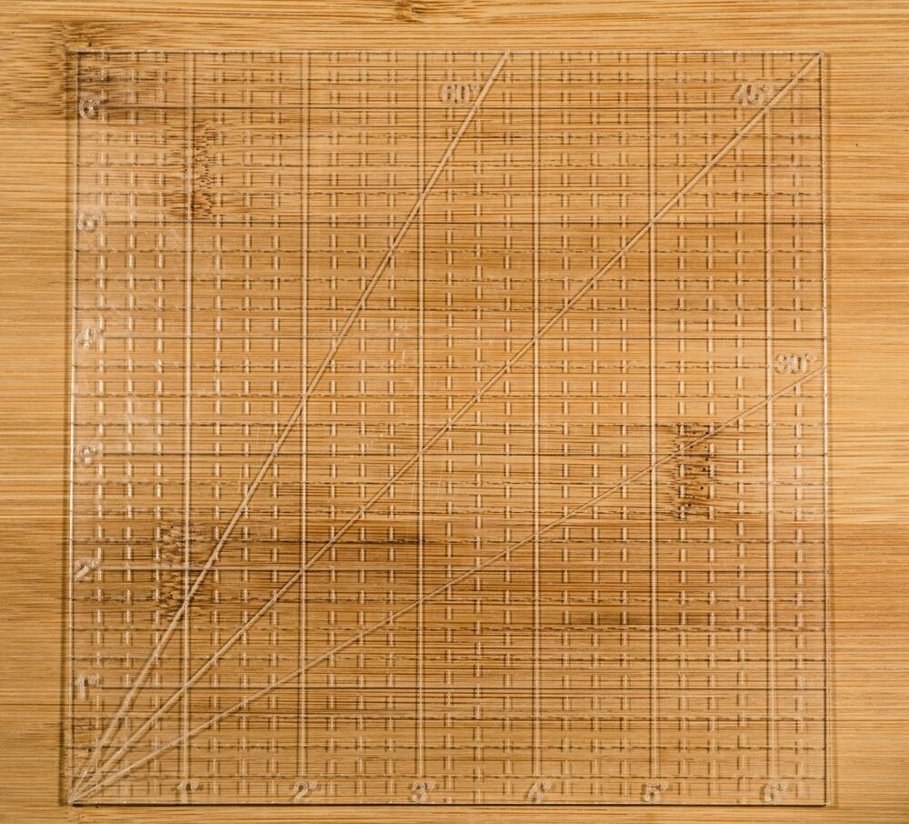 6 Quot Square Ruler 1 8 Inch Thick Clear Acrylic Quilting Ebay