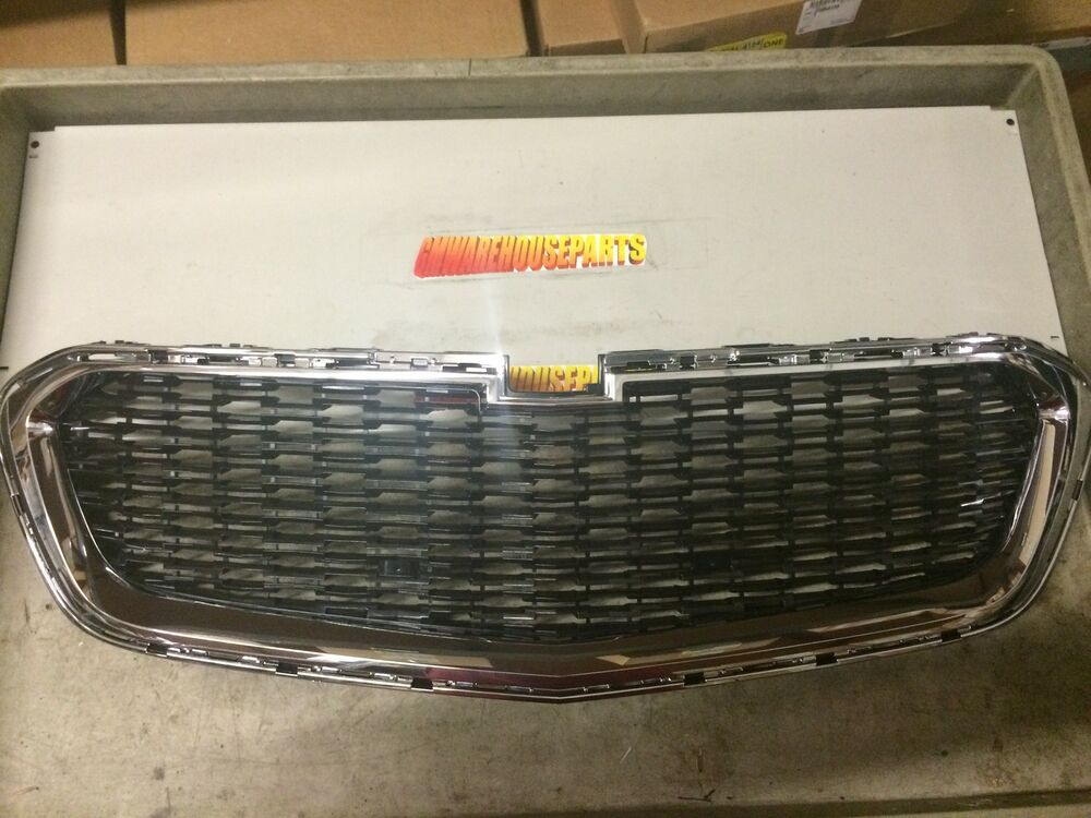 chevrolet gm oem 14 15 malibu front bumper grille grill. Black Bedroom Furniture Sets. Home Design Ideas