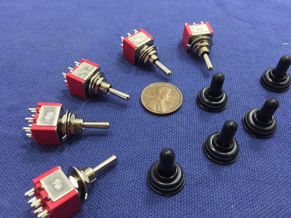 5 pieces red waterproof momentary mini toggle switch on. Black Bedroom Furniture Sets. Home Design Ideas