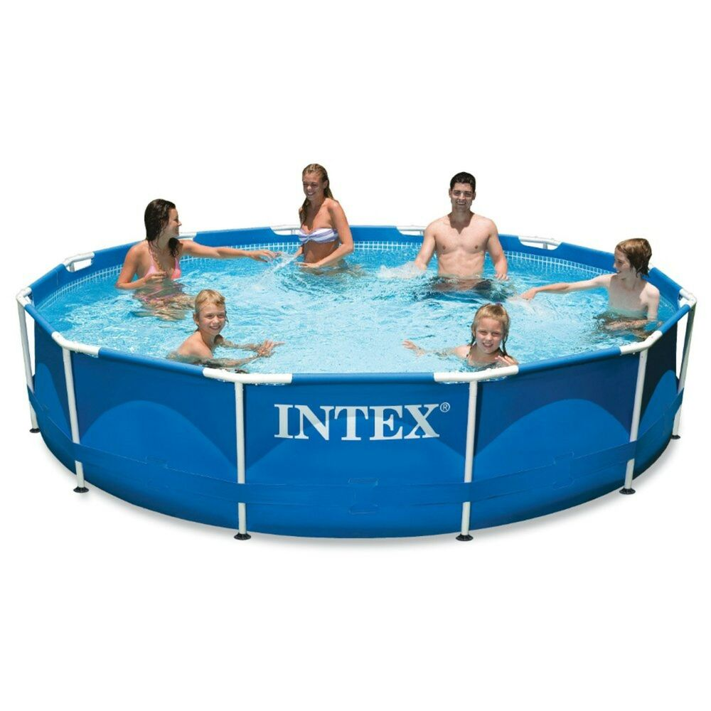 intex 12ft x 30in metal frame pool set 12 feet by 30 inch new and ships fast ebay. Black Bedroom Furniture Sets. Home Design Ideas