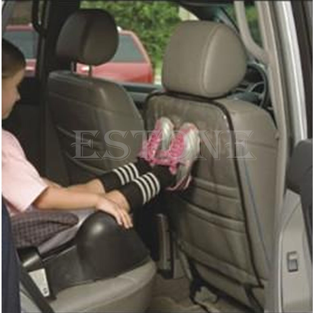 new removable transparent anti step car seat back cover hang mat pad protector ebay. Black Bedroom Furniture Sets. Home Design Ideas