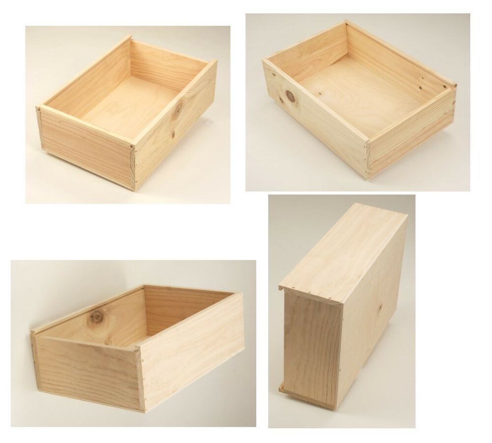 4 stk allzweckkiste holzkiste holzbox kiste aufbewahrungskiste spielzeugkiste ebay. Black Bedroom Furniture Sets. Home Design Ideas