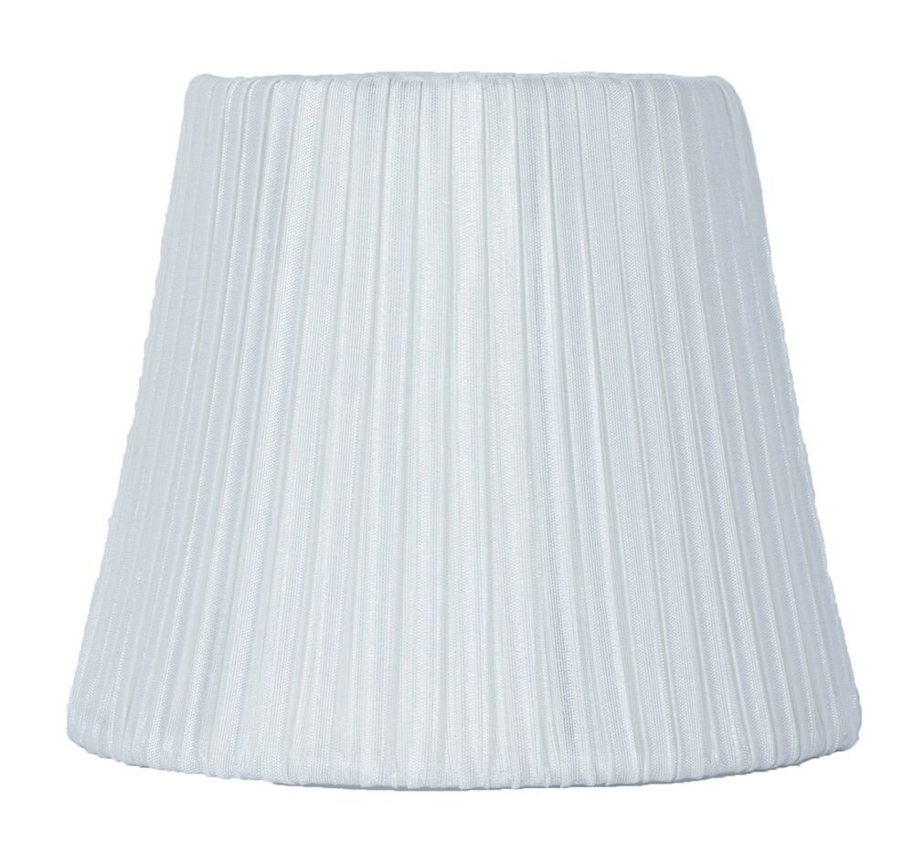 Urbanest box pleated chandelier lamp shadeoff white 6 for 7 inch table lamp shades