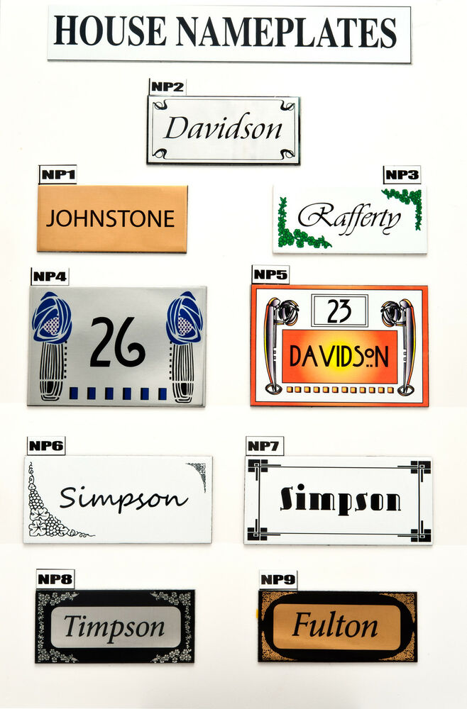 House sign plaque personalised name plate door number new for Classic house name plates