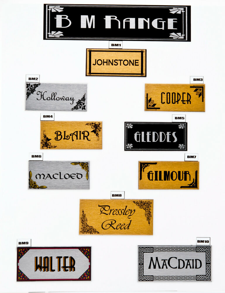 House sign plaque personalised name plate door number for Classic house name plates