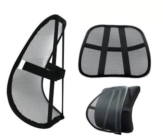 mesh lower back lumbar support pain relief massage car office chair seat posture ebay. Black Bedroom Furniture Sets. Home Design Ideas