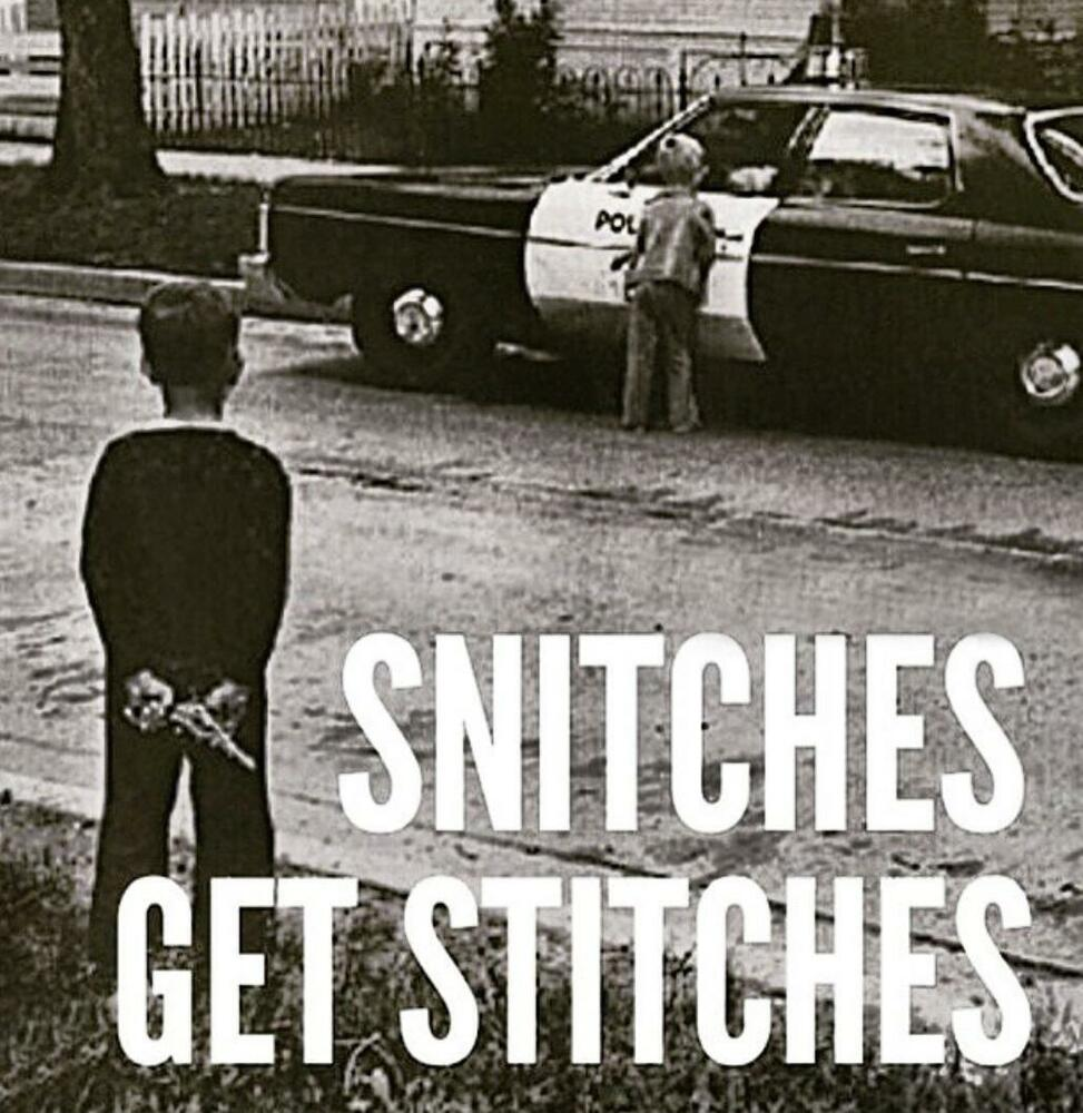 Snitches Get Stitches Stretched Canvas Wall Art Poster