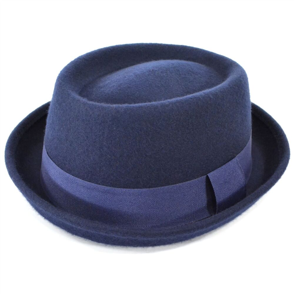 hat pork pie wool 100 felt porkpie trilby crown mens breaking bad walter new ebay. Black Bedroom Furniture Sets. Home Design Ideas