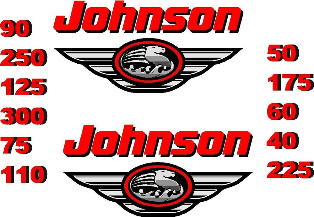 2 Johnson Boat Motor Decal Sticker Decals Outboard Ebay