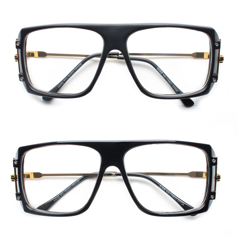 Glasses Frames With Removable Arms : Retro Metal Arms Clear Lens Flat Top Eye Square Glasses ...