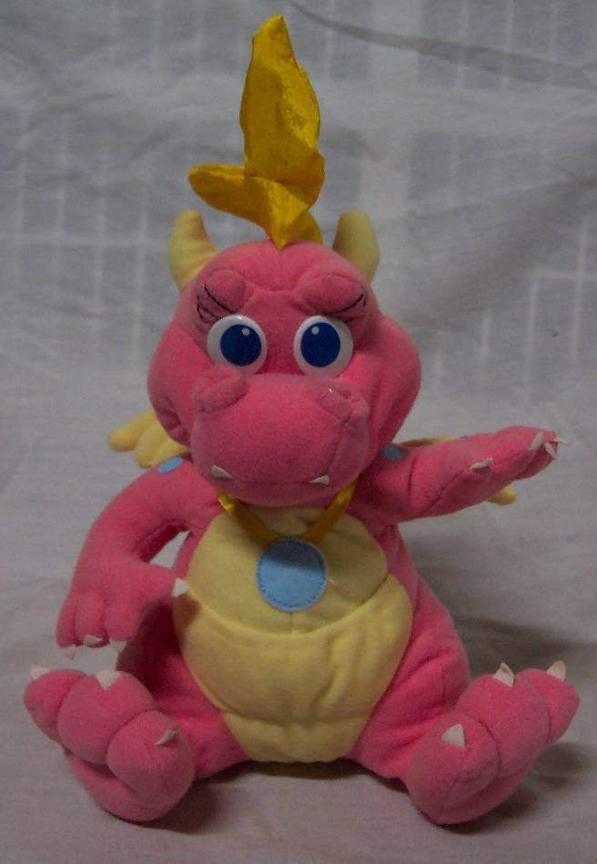 playskool dragon tales pink cassie dragon 9quot plush stuffed