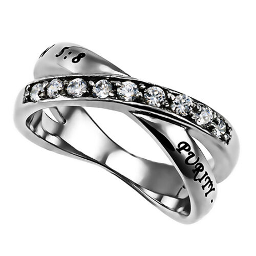 purity ring for stainless steel christian bible