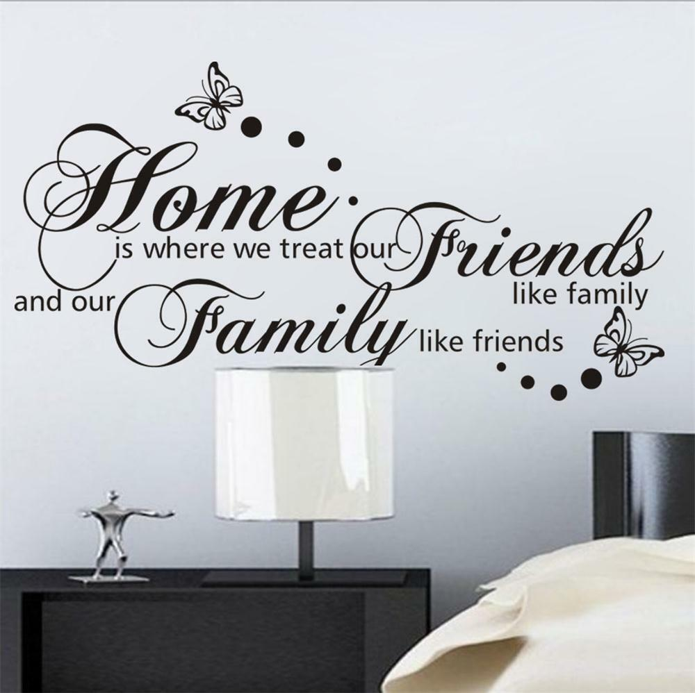 Wall Decals Quotes: Large Home Family DIY Quote Wall Decals Removable Vinyl