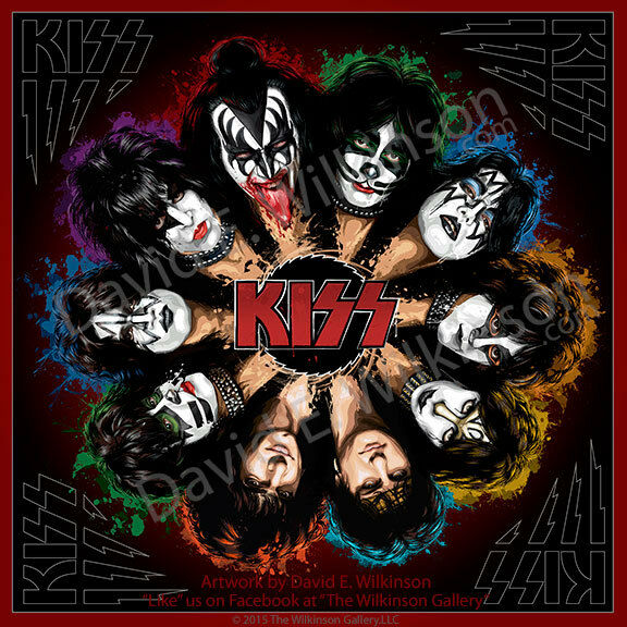 "Kiss Band Members With Makeup: KISS ""Komplete KISStory"" Art Giclee' Album Poster Print By"