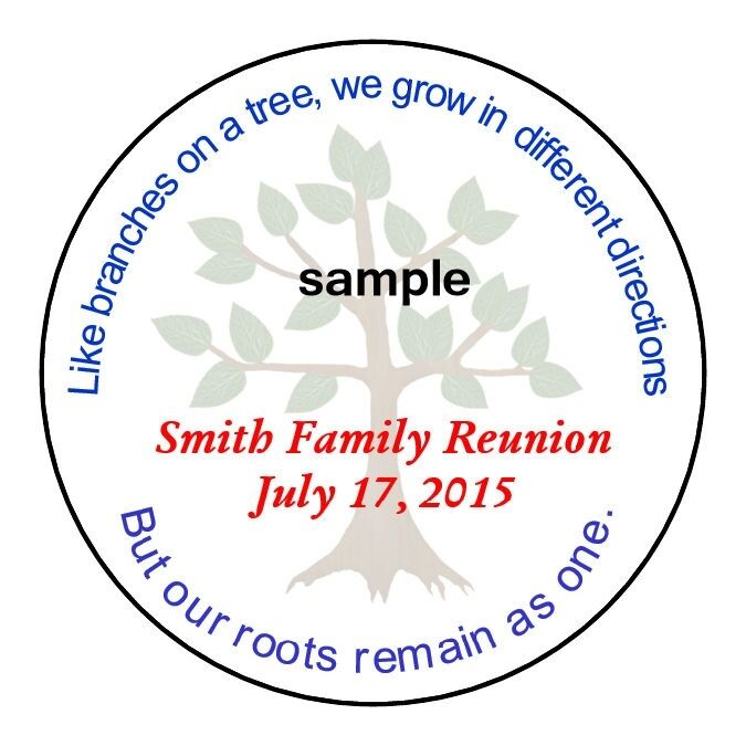 FAMILY REUNION TREE Personalized Party Favor Labels