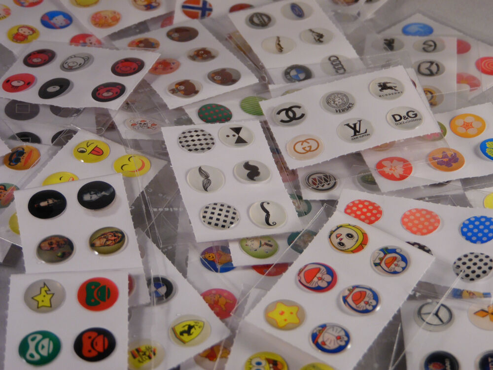 6 home button stickers for apple iphone 4 4s 5 5c ipad