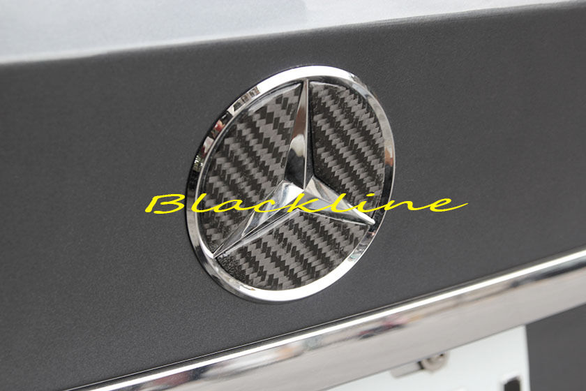For 08 14 mercedes c w204 carbon fiber trunk star emblem for Mercedes benz trunk emblem