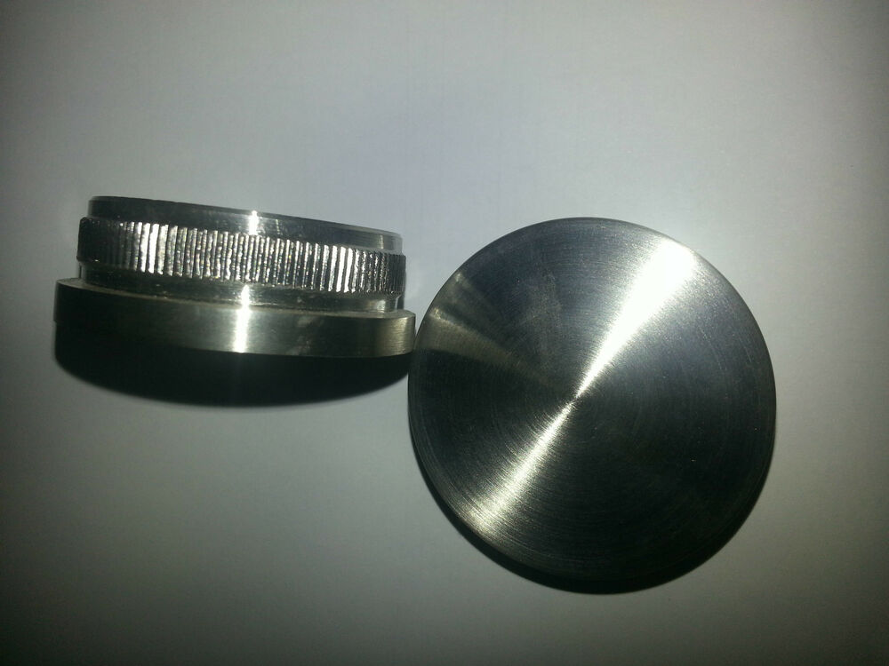 Handrail system flat end caps pair for chs thk