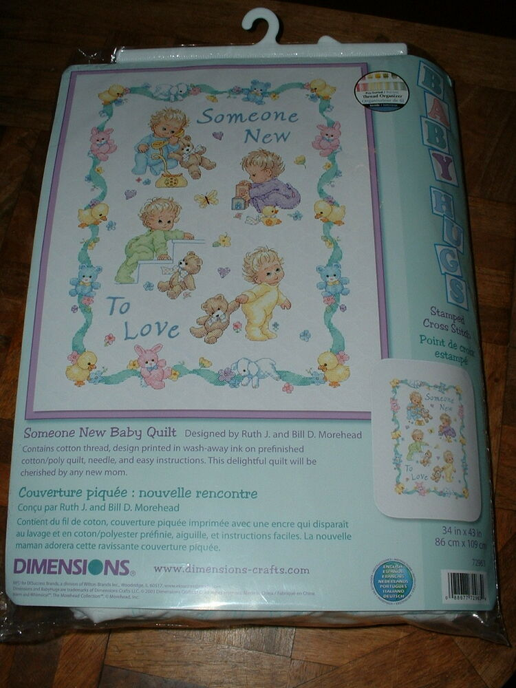 Dimensions Someone New To Love Cross Stitch Baby Quilt Kit