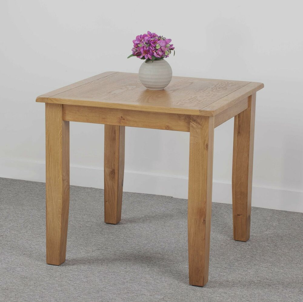 Oxford Oak Small Square Fixed Dining Table EBay
